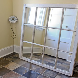 DIY Window Frame Turned Mirror Project