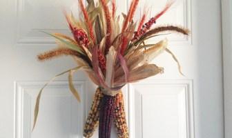 DIY Indian Corn Swag