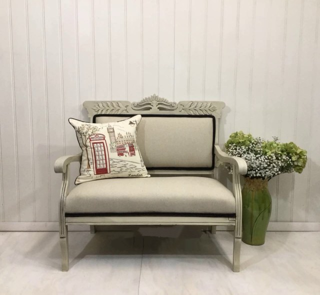 Fabric Painting Settee