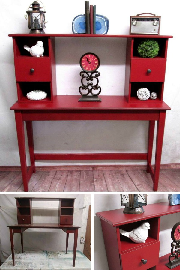 Console Table with hutch