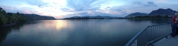 Kamloops, overlooking the Thompson River at dusk