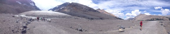Athabasca Glacier, the foot of the Columbia Icefields