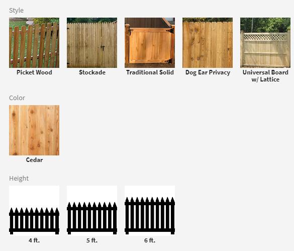 Wood Fence Options