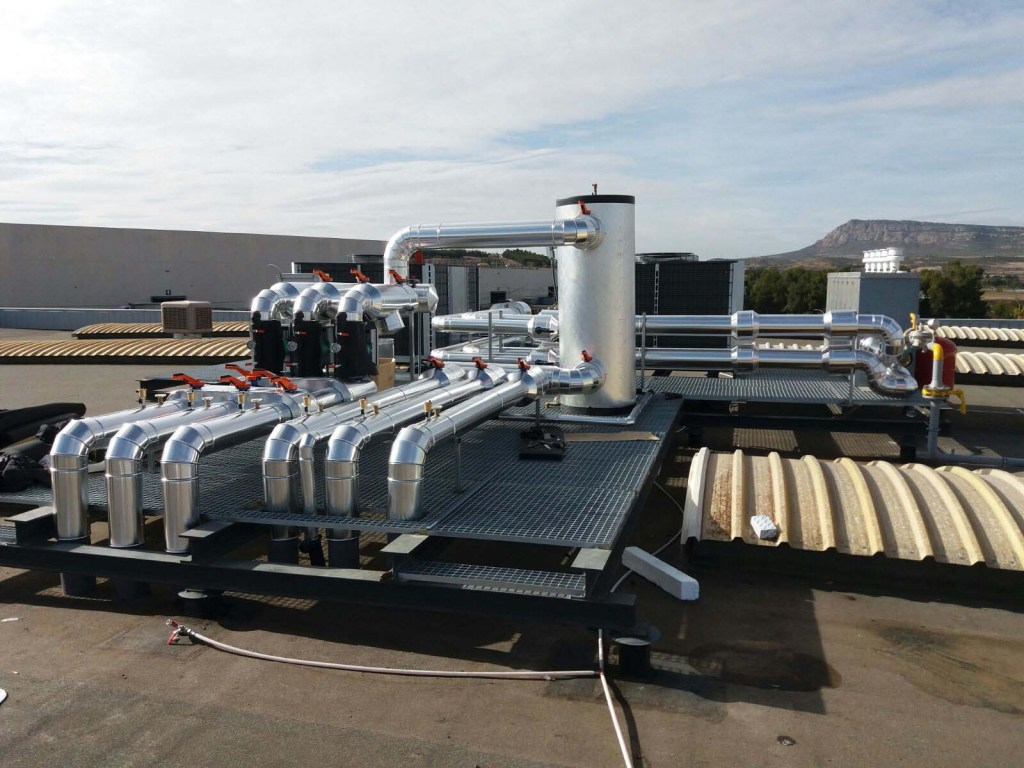 Instalacion de gas natural en Pertini