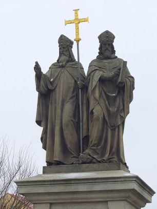statue_saints_cyril_and_methodius_trebic_czech_republic