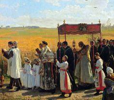 Jules Breton,Corpus Christi Procession(Detail) 2