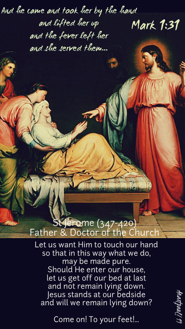Mark 1 29 39 : Minute, Reflection, January, Wednesday, First, Ordinary, Gospel:, 1:29–39, AnaStpaul