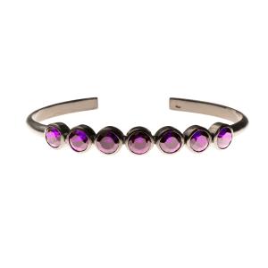 8edf1d8442760 Bracelete chacras colours em prata com banho de ródio negro e ametista