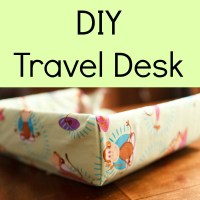 DIY Travel Desk