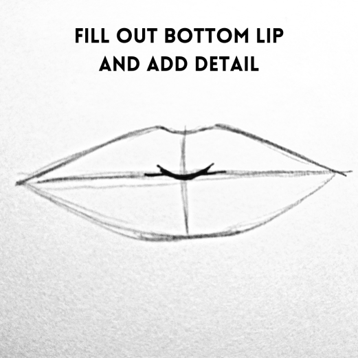 fill out the lips, how to draw a mouth