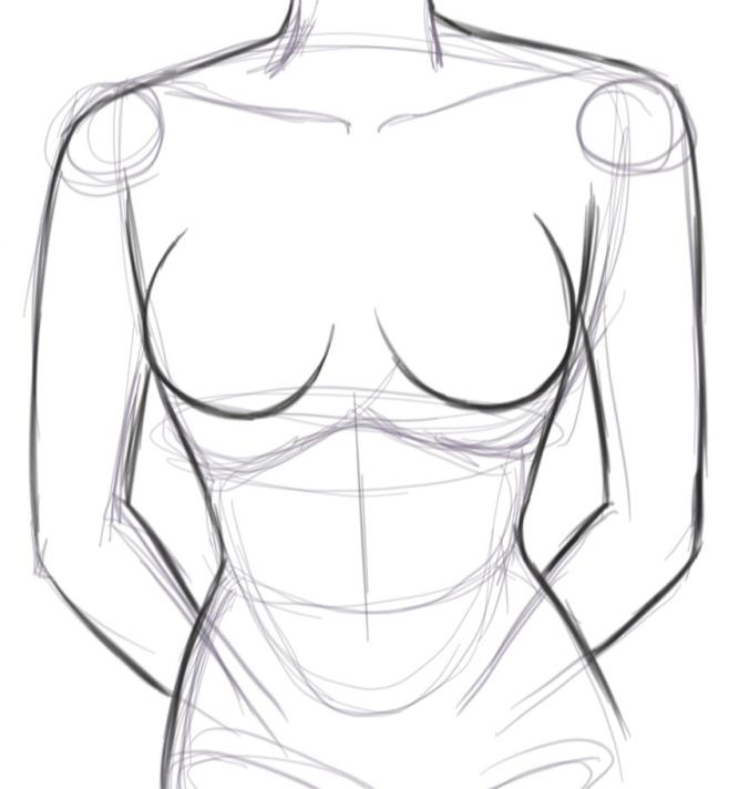 Outline How to Draw Boobs