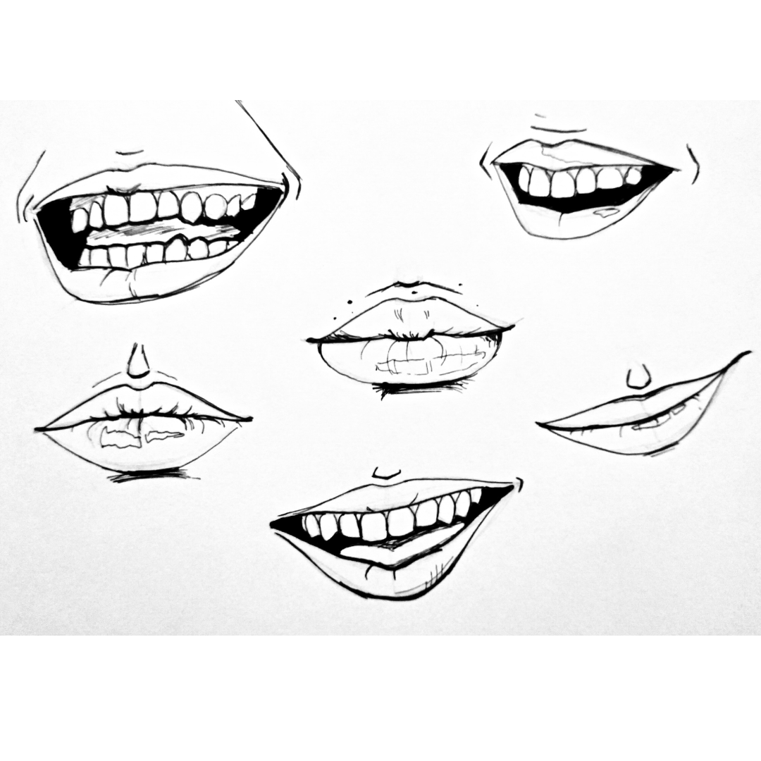 How to draw mouths with different shapes