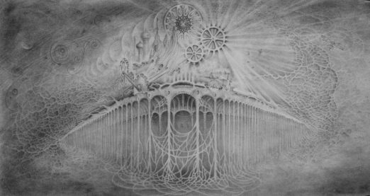 Two Indefinite Points, 2014, graphite drawing by Jennifer Ramey