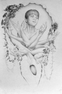 Cyclical Story, graphite on paper, 2008, by Jennifer Ramey