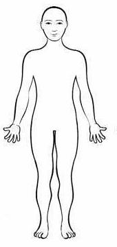 Cartoon Human Body Outline Sketch Coloring Page