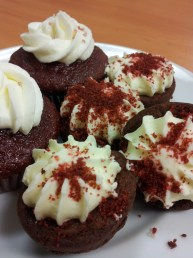 Store-bought Red Velvet Cupcakes