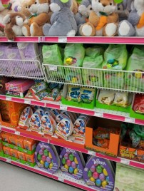 Easter merchandise at the drug store