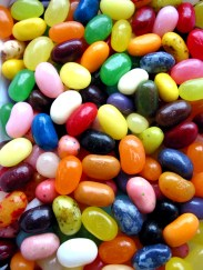 A pile of colourful jellybeans