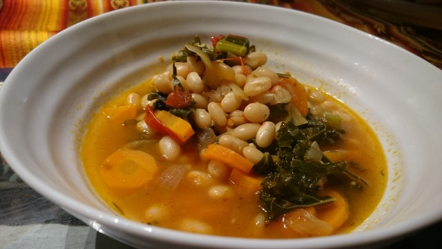 Bowl of navy bean soup