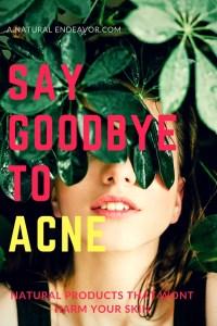 Get rid of acne, healthy skin