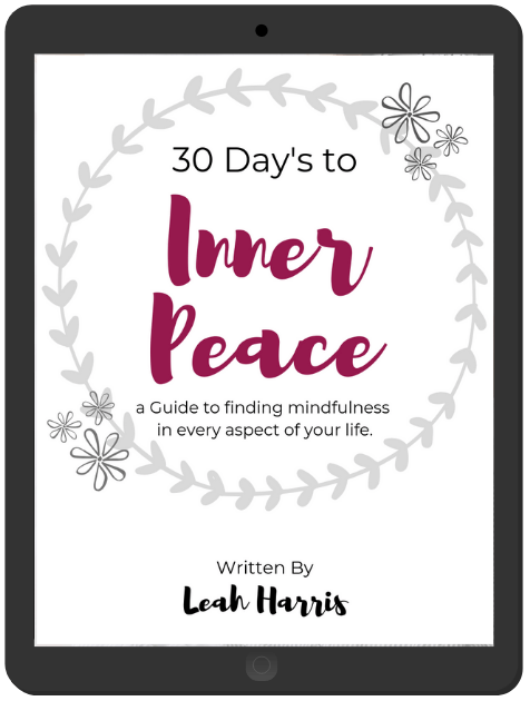 Self care books, 30 Days to Inner Peace by Leah Harris