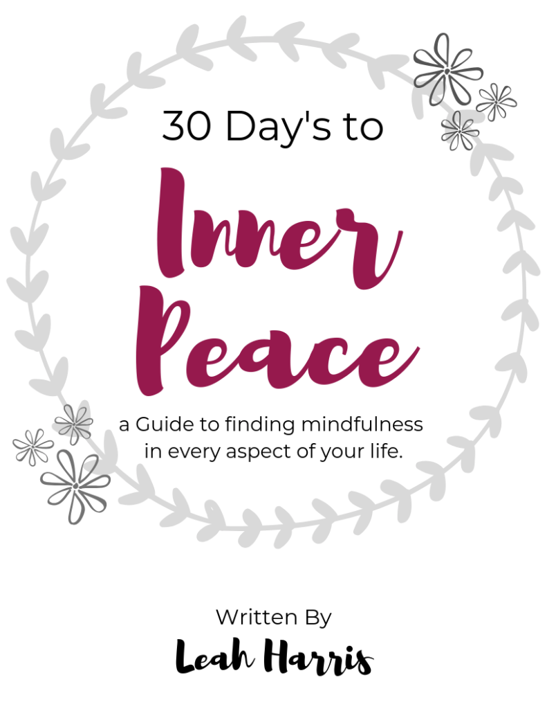 30 Days to Inner Peace, Self Care guide