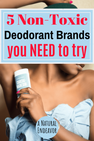 5 Non-Toxic Deodorant brands