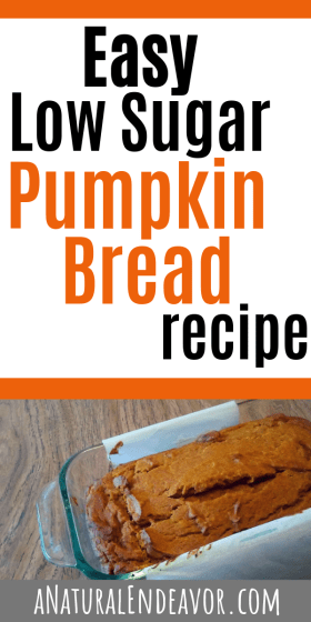 Low sugar pumpkin loaf recipe