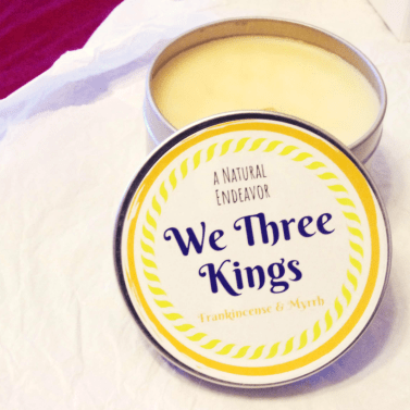 We Three Kings, Frankincense and Myrrh Candle Beeswax