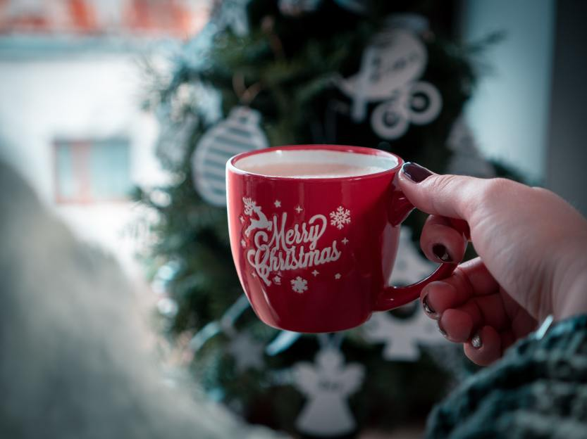 Hot cocoa, warm drink, Christmas time
