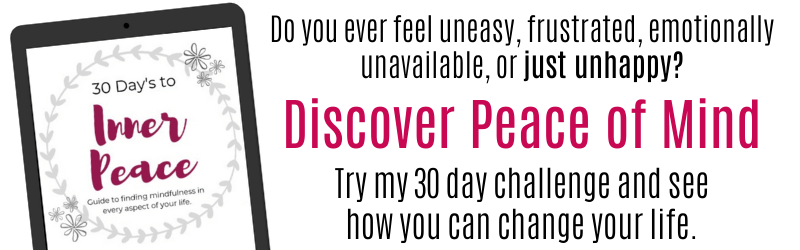 30 days to inner peace, mindful living ebook