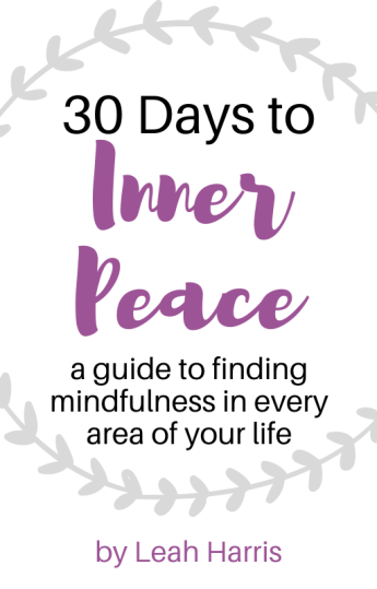 30 days to inner peace, mindfulness guide. mindful living ebook
