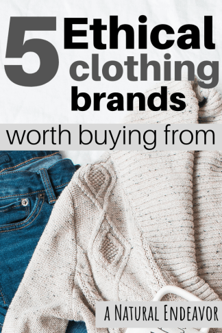Ethical sustainable clothing companies and brands