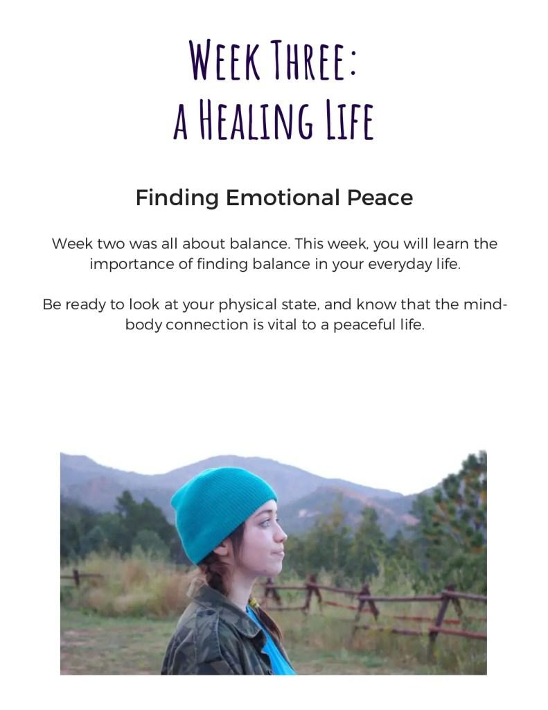 week three, emotional health, mental health ebook