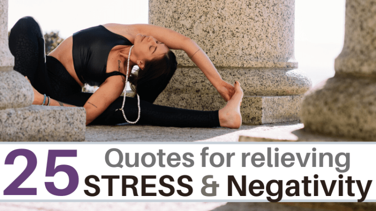 Relieve stress and negativity