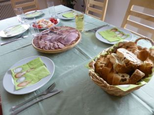 Easter family meal Austria