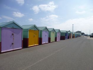 beach huts, brighton UK