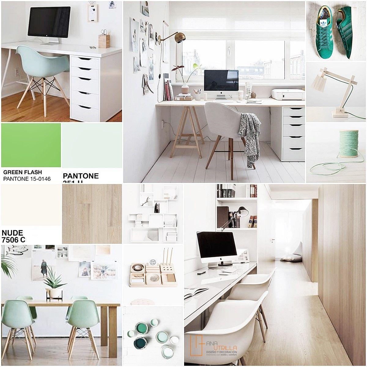 Moodboard decoración de interiores clientes en Madrid zona despacho