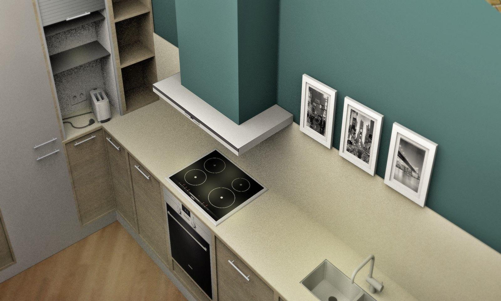 Infografía 3D de cocina para clientes en león por Ana Utrilla