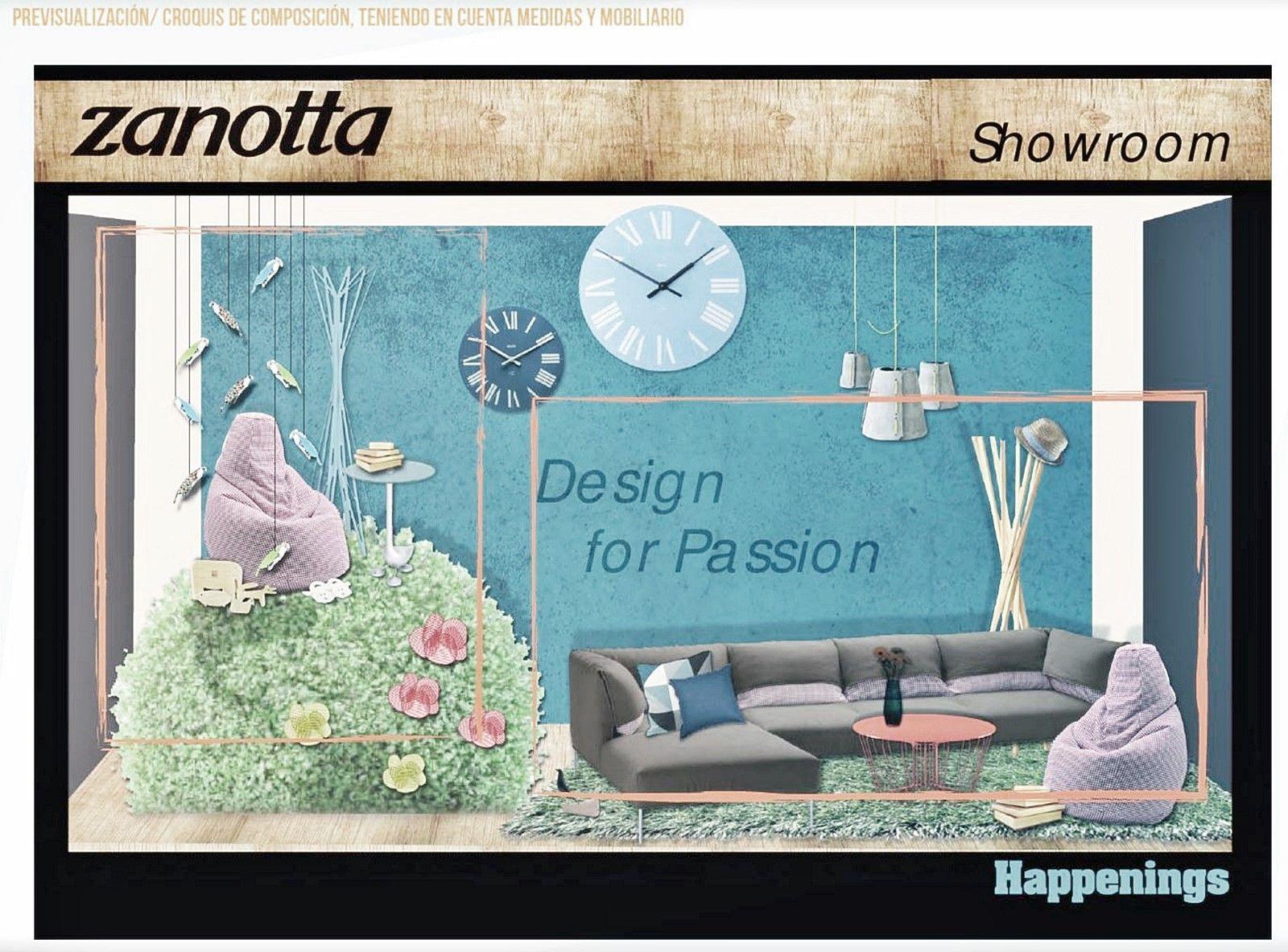 Bocetos del proceso de composición y diseño de escaparate por Ana Utrilla