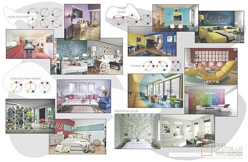 Cómo decorar con color en decoración de interiores por Ana Utrilla Diseño de Interiores