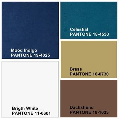 Paleta de colores para proyecto de decoración con estilo masculino por Ana Utrilla