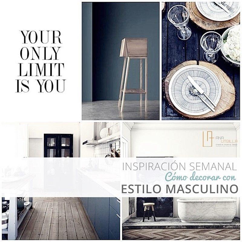 Ideas para decorar con estilo masculino por Ana Utrilla