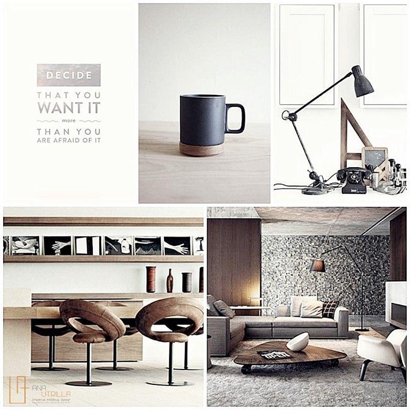 Ambientes rústicos de estilo masculino para el salón, habitaciones o espacios de trabajo por Ana Utrilla Diseño de Interiores