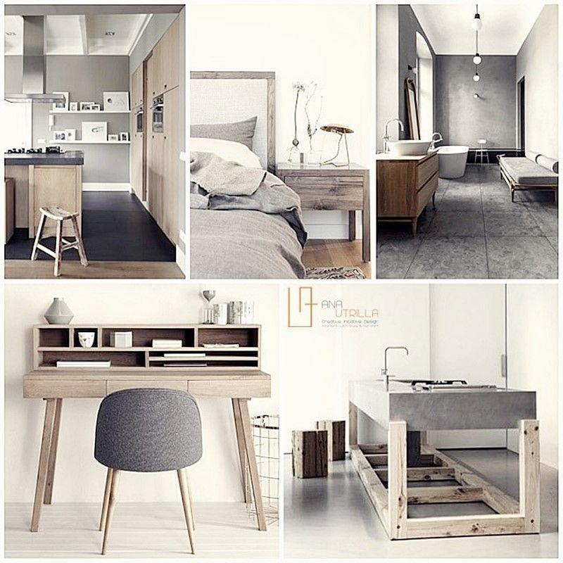 MOODBOARD de espacios de estilo nórdico en colores neutros por Ana Utrilla