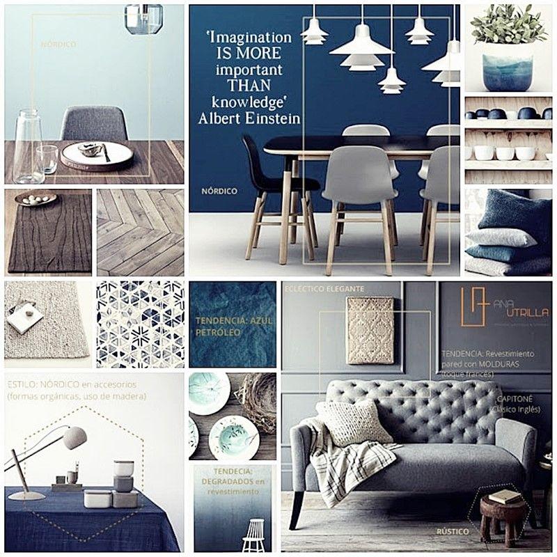 Decora en azul petróleo y verde mint por Ana Utrilla diseño de interiores