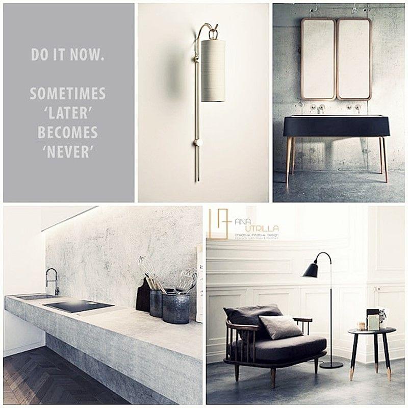 Diseño de interiores de estilo minimalista nórdico en bicromía blanco y negro