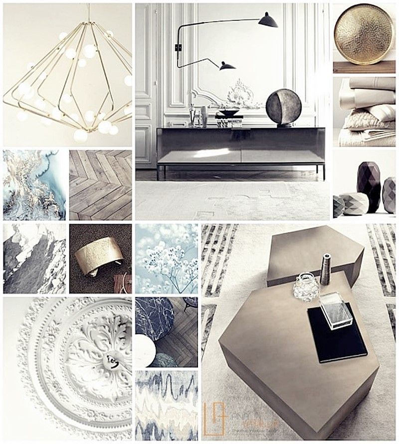 MOODBOARD proyecto de interiorismo en estilo ecléctico elegante por Ana Utrilla