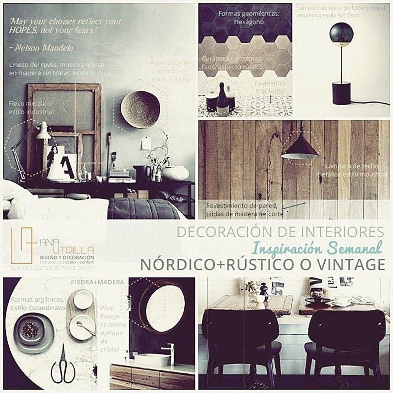 Decoración de interiores de estilo nórdico rústico o vintage por Ana Utrilla