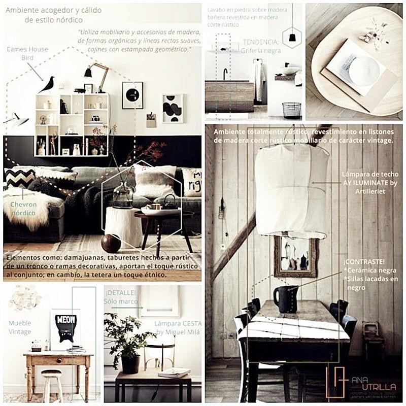Interiores con estilo nórdico rústico o vintage como cocina aseo o salón